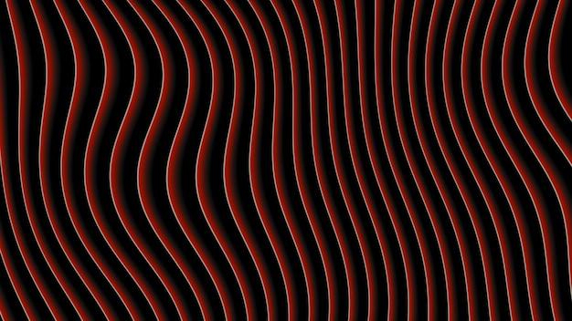 Linee rosse geometriche astratte, sfondo retrò. stile di illustrazione 3d dinamico elegante e lussuoso per modello aziendale e aziendale