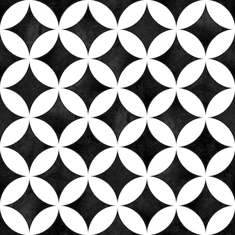 Modello senza cuciture geometrico astratto. opera d'arte ad acquerello monocromatica minimalista in bianco e nero.