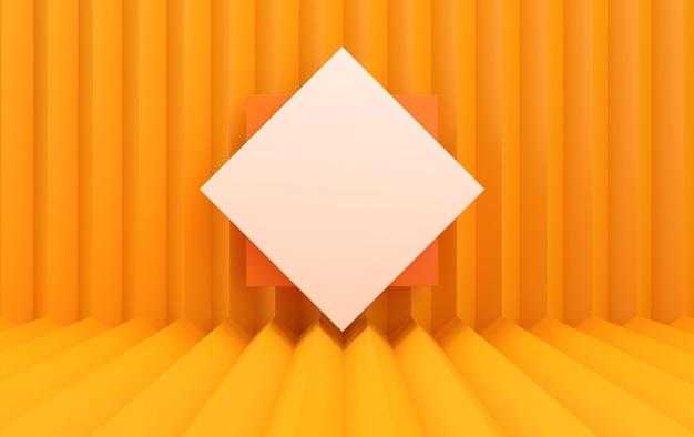 Insieme del gruppo di forma geometrica astratta, sfondo a strisce, rendering 3d, scena con forme geometriche