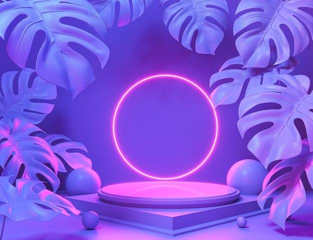 Scena di colore pastello di forma geometrica astratta minima, design per cosmetici o esposizione di prodotti podio 3d rendering.