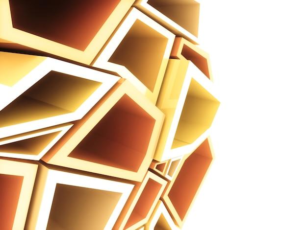 Fondo geometrico astratto con il modello degli elementi arancioni
