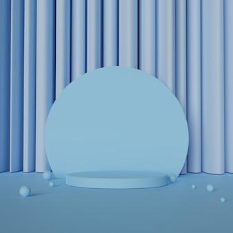 Forma di visualizzazione geometria astratta con spazio vuoto.