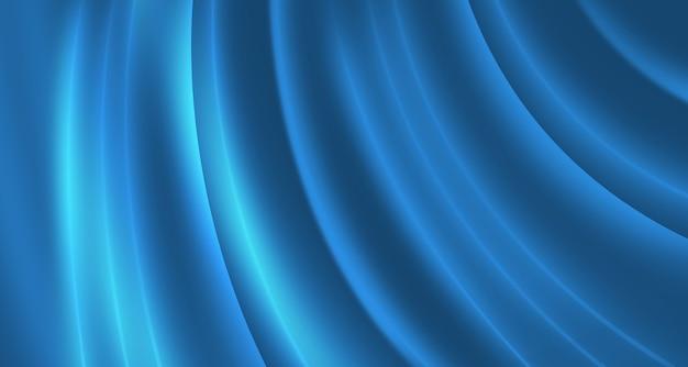 Curve incandescenti astratte sfondo blu Foto Premium