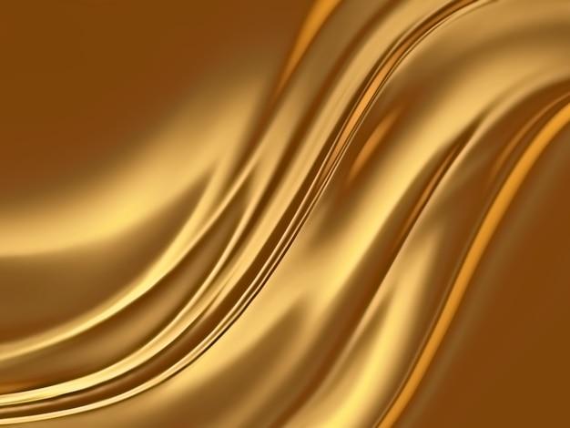 Fondo oro astratto con linee morbide