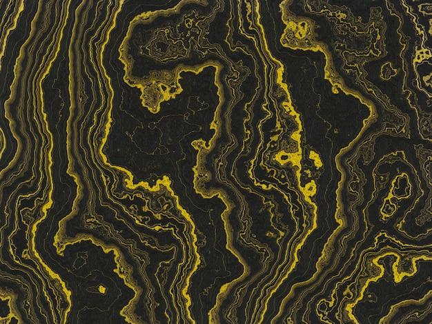 Oro astratto e sfondo nero