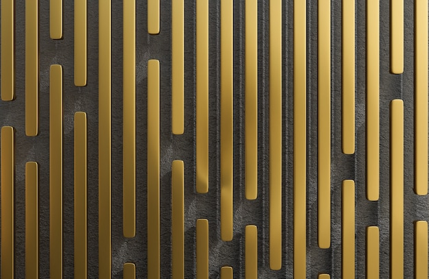 Abstract golden stecche sfondo grunge texture stile modello 3d e illustrazione.