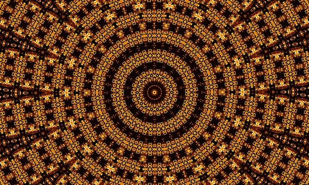 Fondo dorato astratto della spirale della caramella. design moderno per banner, copertina, flyer, cartoline, poster, altro. illustrazione rotonda. motivo geometrico circolare.