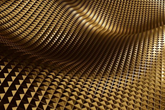 Materiale strutturato dorato astratto