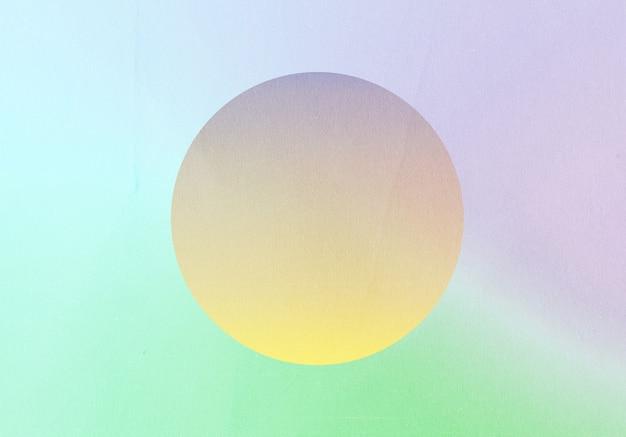 Gradiente astratto retrò pastello colorato e forma rotonda con sfondo effetto rumore di grano, per il design del prodotto e social media, design retrò vaporwave alla moda