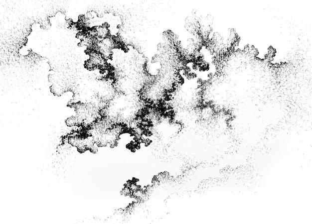 Spazio grafico astratto del cielo notturno dell'inchiostro fondo della nebulosa. sfondo di mistero nebbia nuvola stellata. illustrazione bianca nera della polvere delle nebulose dell'universo.