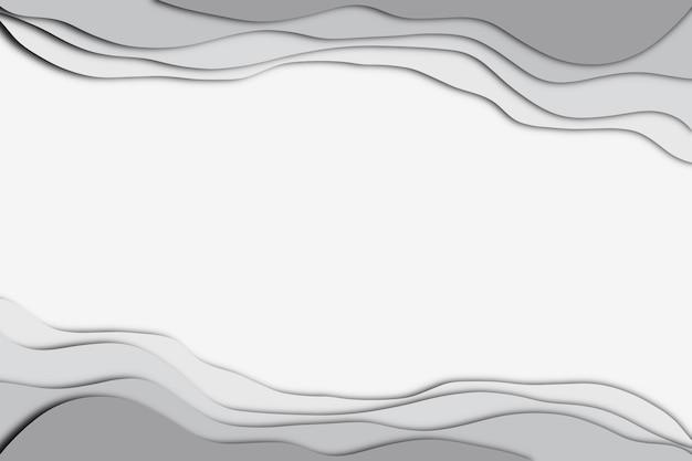 Priorità bassa di effetto del taglio della carta di colore grigio astratto