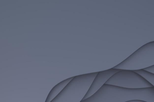 Fondo grigio astratto di arte del taglio della carta
