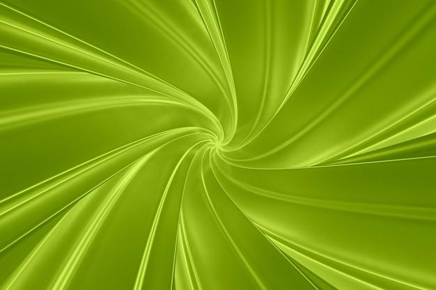 Fasce tridimensionali torsioni verdi astratte