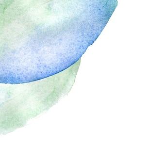 Macchia dell'acquerello disegnata a mano astratta su sfondo bianco isolato lo spazio della copia.