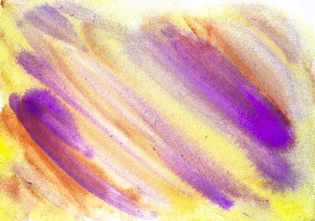 Acquerello dipinto a mano astratto sfondo bagnato colorato su carta