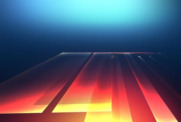 Sfondo astratto ad alta tecnologia con linee ed effetti di luce