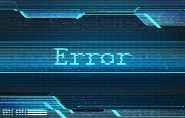 Illustrazione astratta dello schermo distorto. errore nell'interfaccia tecnologica. immagine concettuale di pixel morti vhs.