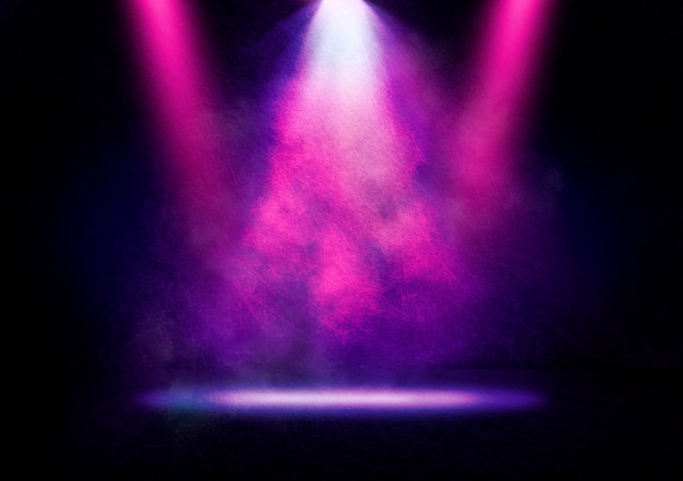 Immagine astratta di una luce da discoteca su uno sfondo di scena