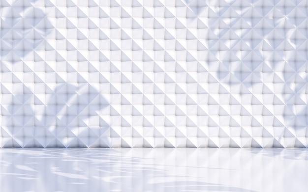 L'estratto lascia il fondo dell'ombra con il concetto bianco della parete. rendering 3d