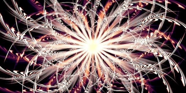 Curva di luce astratta onde fluenti dinamiche di illustrazione 3d senza motivo di linee