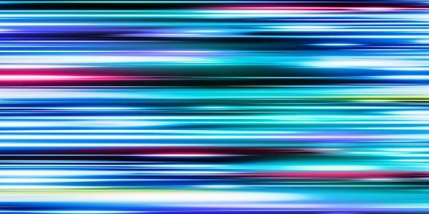Linee di luce astratte tecnologia tecnologia dinamica modello design illustrazione 3d
