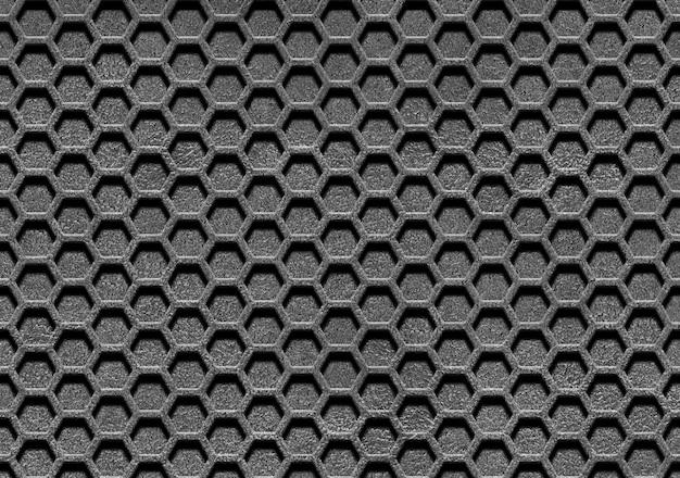 Linee astratte e maglia metallica
