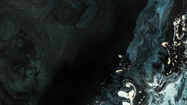 Struttura liquida astratta con l'illustrazione del fondo di scintillio dell'oro
