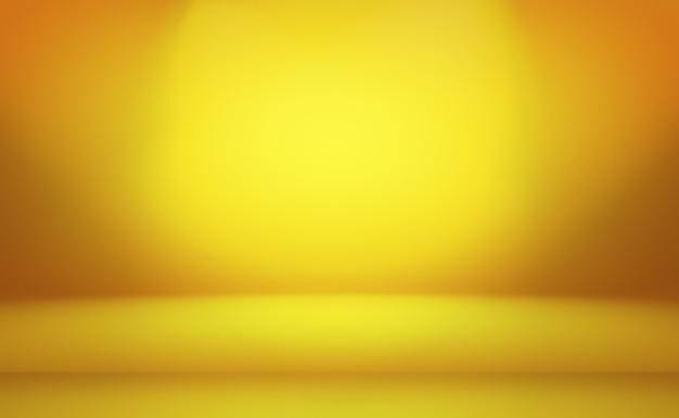 Fondo giallo della parete dello studio di pendenza di giallo oro di lusso astratto