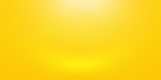 Abstract luxury gold gradiente giallo parete studio, bene utilizzare come sfondo, layout, banner e presentazione del prodotto.