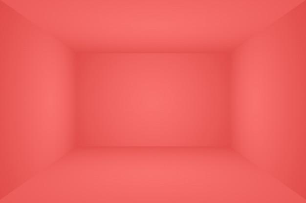 Progettazione rossa molle di lusso astratta della disposizione dei biglietti di s. valentino di natale, studio, stanza, modello web, relazione di attività con colore regolare di pendenza del cerchio. 3d