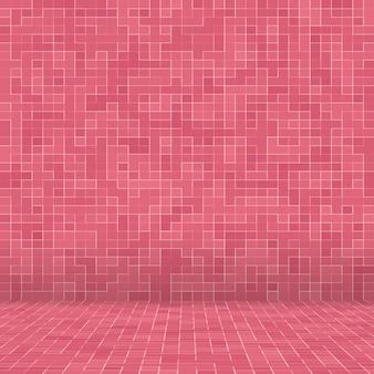 Mosaico senza cuciture del modello di vetro delle mattonelle di pavimento di tono rosa pastello dolce di lusso astratto
