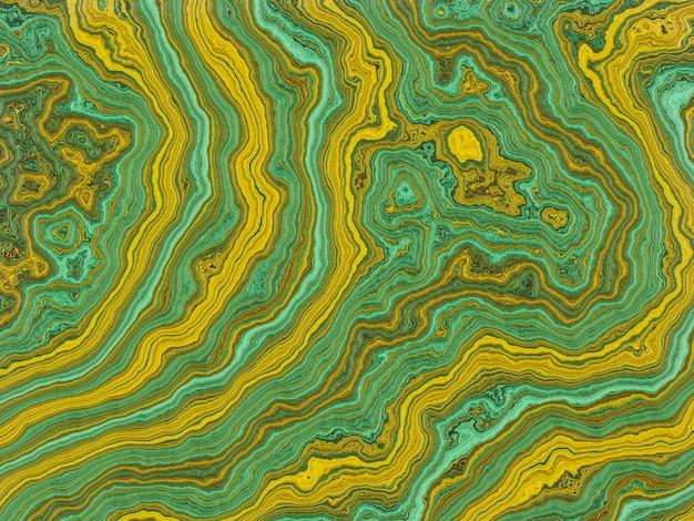 Astratto sfondo verde e giallo marmorizzato