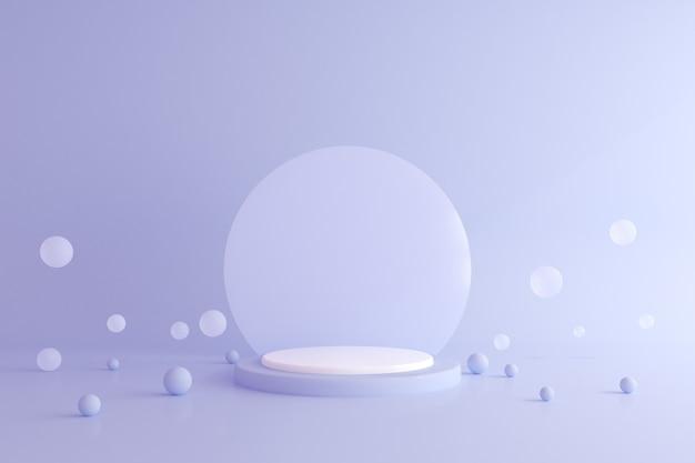 Abstract mock up del podio di geometria, stile minimal.