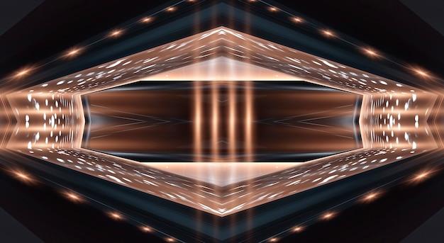 Fondo scuro moderno astratto con i raggi e le linee