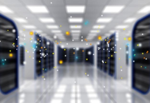 Riassunto della moderna sala data center internet ad alta tecnologia