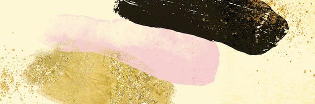 Forma moderna astratta dell'acquerello con fondo di struttura del grano di rumore di scintillio dell'oro per progettazione, stile della copertina della bandiera