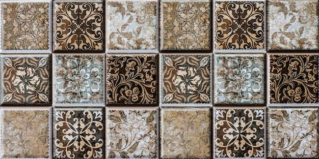 Modello astratto di tessere di mosaico con bagno in cucina e servizi igienici