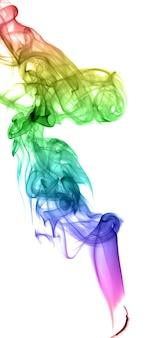 Fumo multicolore astratto su sfondo chiaro