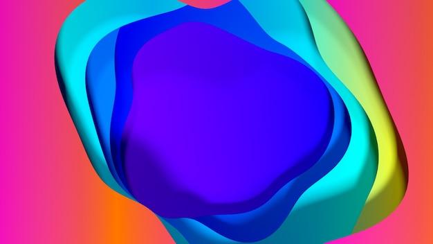 Strati multipli astratti della superficie dell'onda