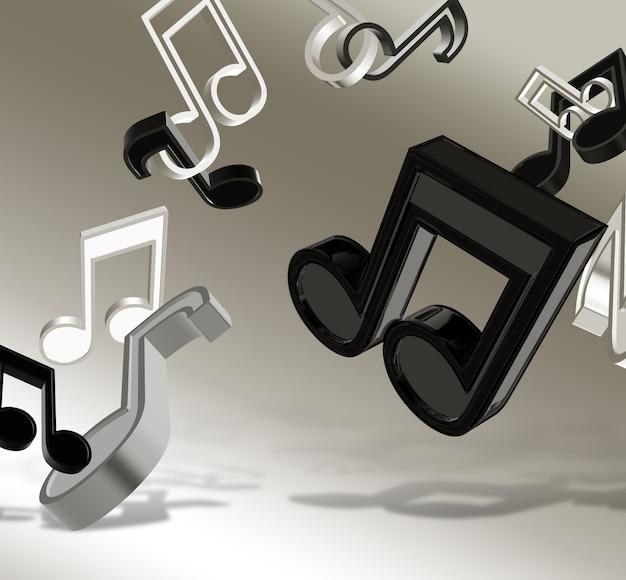 Sfondo musicale astratto con note
