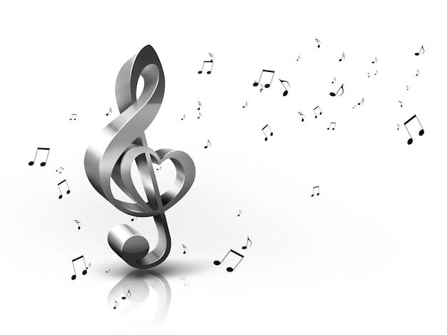 Sfondo musicale astratto con chiave di violino e note