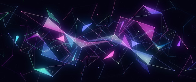 Linee al neon astratte futuristiche moderne
