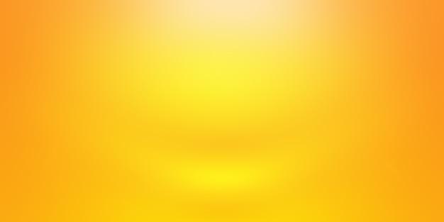 Progettazione di layout di sfondo arancione astratto, studio, camera, modello web, relazione aziendale con colore sfumato del cerchio liscio.