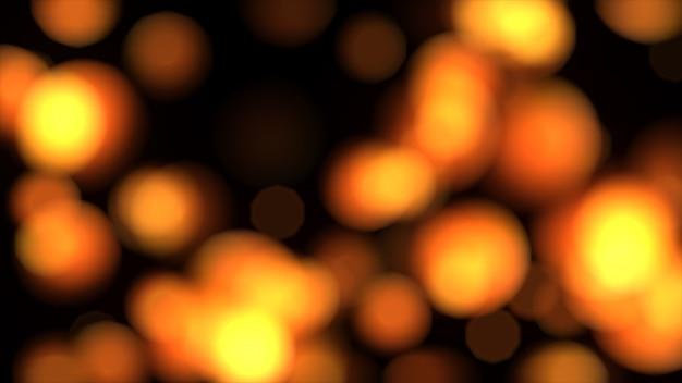 Luci arancio astratte nell'illustrazione di defocus 3d