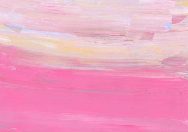 Rosa pastello astratto, giallo, crema, sfondo bianco