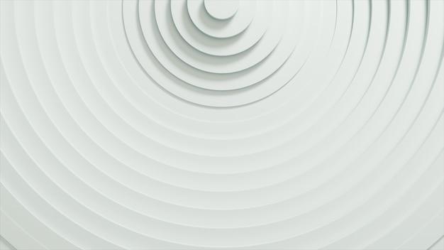 Configurazione astratta di cerchi con effetto di spostamento. anelli vuoti bianchi.