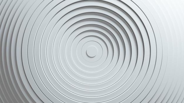 Modello astratto di cerchi con l'effetto di spostamento. animazione di anelli puliti bianchi.