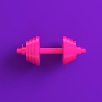 Manubrio rosa astratto sulla viola