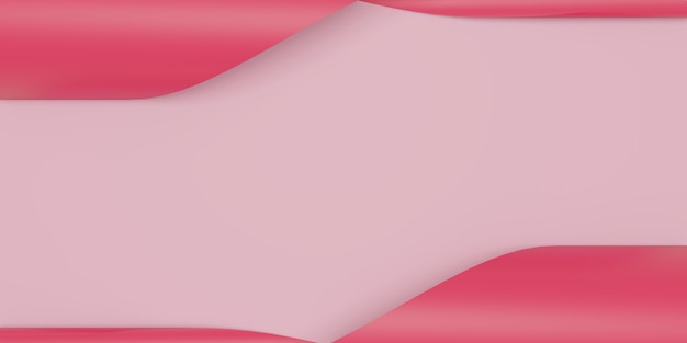 Sfondo astratto carta rosa. sfondo di tendenza moda. illustrazione 3d