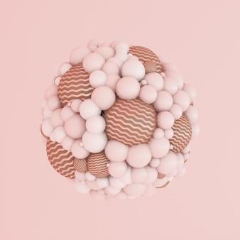 Rosa astratta, particella di minimalismo da studio.